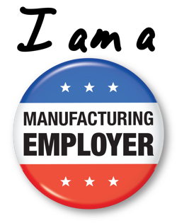 I am a manufacturing employer button